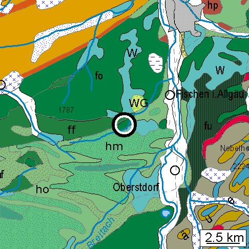 Geologische Karte zur Falte am Riedbergpaß