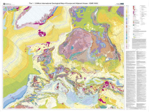 The International Geological Map of Europe and Adjacent Areas (IGME&nbsp;5000).