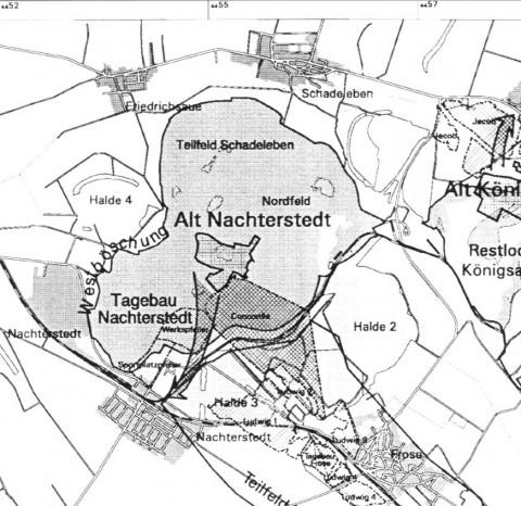 Ausschnitt aus der Topographischen Karte von Balaske (1998)