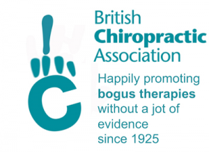 British Chiropractic Association – Happily promoting bogus therapies without a jot of evidence since 1925