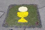 Fronleichnam – Blumenteppich für Altar