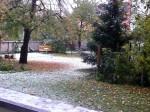 Erster Schnee 2012 in Cottbus.