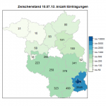 Zwischenstand Volksbegehren: Anzahl der Eintragungen