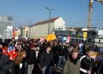 Demo 15.02.15, Bahnhofsbrücke